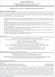 Sample Resume For Business Analyst Resume Directory
