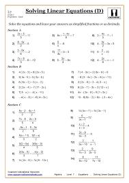 solving multi step equations worksheet kuta solving multi 432583
