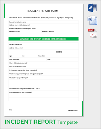 Incident Reporting Template Sample Incident Report 100 Documents In PDF Word 18