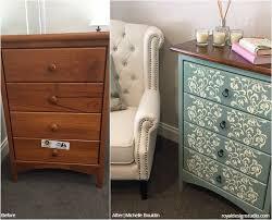 before after diy stencil project winners furniture stencilpainting