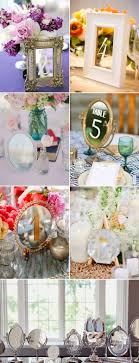wedding table ideas. Mirrors Wedding Table Number Ideas