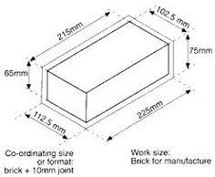 size of a brick image result for contemporary brick dimensions brick construction