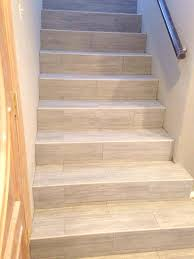 wood look tile stairs how to install vinyl plank flooring on stairs modern laying vinyl plank