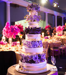 Purple And Gold Wedding Cake Pictures