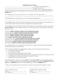 Free Wedding Planner Contract Templates Wedding Planners Contract Template Beautiful 5 Planner
