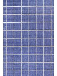 villa modern squares outdoor rug blue 7039 h503
