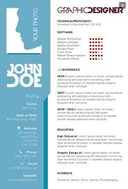 Graphic Designer Resume Template Unique Graphic Designers Single Page Resume Resume Examples Pinterest
