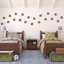 Wolf Paw Print Wall Decal Set   Boy Bedroom Decor   Wolf Tracks