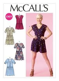 Mcalls Patterns Gorgeous McCall's 48 Misses' ElasticWaist Dresses with Sleeve Variations
