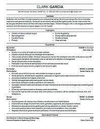 Bartending Resume Template Unique Resume Template Open Free Download Best Bartender Examples Australia