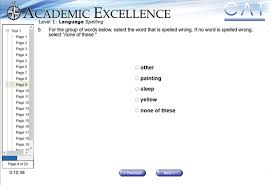Complete Online California Achievement Test Timed