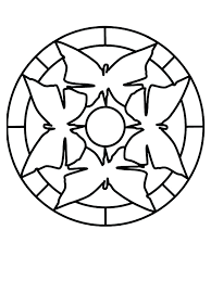 Easy Mandala Coloring Pages 512 Simple Mandala Flower Design For