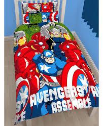 marvel avengers battle single duvet cover and pillowcase set