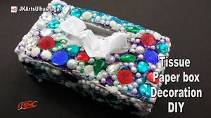 Decorating Boxes With Paper DIY Decorate Tissue Box How to make JK Arts 60 YouTube 44