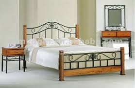 wrought iron bedroom furniture. Wrought Iron And Wood Bed In Bedroom Furniture F