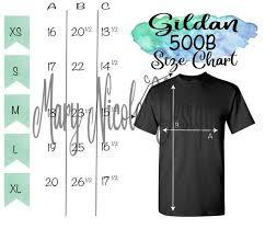 Gildan Tee Shirt Size Chart Gildan G500b Size Chart T Shirt Mockup Flat Lay Etsy