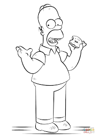 Small Picture Coloring Pages Homer Simpson Coloring Page Free Printable