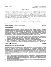 Project Coordinator Resume Resume Template Sample