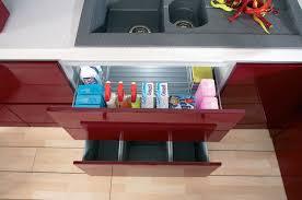 under kitchen sink cabinet. Cabinet Under Sink With Wire Basket And Separate Waste Collection Bins Kitchen