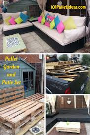 furniture ideas with pallets. Adorable Pallet Patio Furniture Ideas Tutorial In Outdoor With Pallets L
