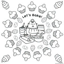 Coloring Pages Coloring Pictures Pusheen The Cat Unicorn Printable