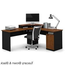 bestar hampton corner desk elegant best tuscany brown black workstation pictures inside 18