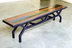 coffee table wood metal berwyn round and
