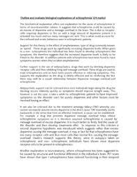 essay schizophrenia essay
