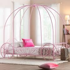 Girls Twin Canopy Bed | Wayfair
