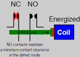 update contactors relays for use in critical operating properly operating relay a nc contact defect