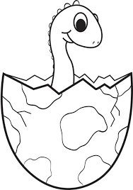 Small Picture Free Printable Cartoon Baby Dinosaur Coloring Page for Kids