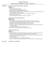 Production Operator Resume Examples Extrusion Operator Resume Samples Velvet Jobs 43