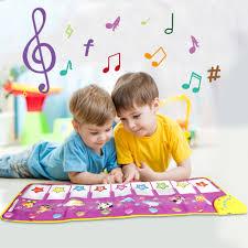 <b>100x36cm</b> Cartoon <b>Musical Mat</b> with 8 Animals Sounds Baby Play ...