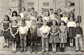 Mrs. Grandy Second grade - Bluebonnet Elementary, Fort Worth, Texas - 1956