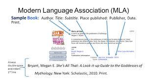 Modern Language Association Mla Sample Book Author Title