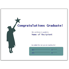 congratulations certificate templates congratulatory graduation certificates free downloads for ms word