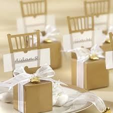 fall wedding place card holders. gold chair favor box place card holders fall wedding c