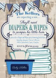 Diaper Shower Invitation Baby Shower Invitation Diaper And Wipes Baby Shower Invitation
