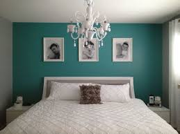 Teal Bedroom Ideas. A Simple Teal Wall Really Pops In A Gray And White  Bedroom.