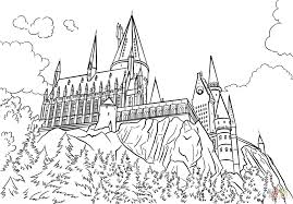 Small Picture Hogwarts Castle coloring page Free Printable Coloring Pages