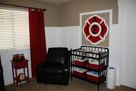 Perfect Color Combination For His Firefighting Room I Ve Been Firefighter Baby Nursery Decor