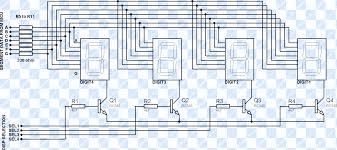 using multiplexed segment displays pic microcontroller tutorial multiplexed seven segment wiring