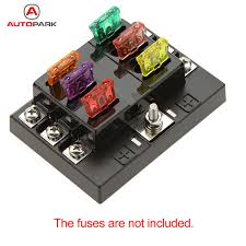 hot sale 6 way circuit car fuse box holder 32v dc waterproof blade fuse box in car clicks hot sale 6 way circuit car fuse box holder 32v dc waterproof blade fuse holder block