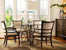 kitchen chairs with casters no arms impressive dining room extraodinary table rolling decorating ideas 10