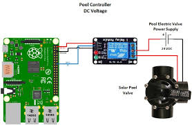pool controller hackster io schematic showing how to connect raspberry pi to dc relay