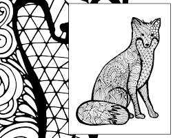 Small Picture fox coloring sheet animal coloring pdf zentangle adult