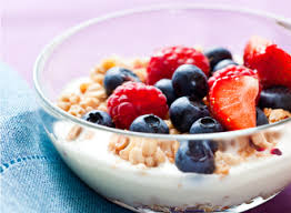 Image result for yogurt, granola, and fruit