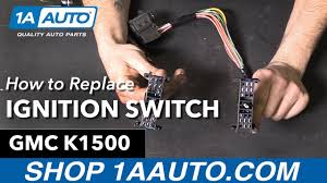 how to replace install ignition starter switch 1995 96 gmc sierra 1989 Chevy 1500 Fuel Pump Wiring Diagram at 1989 Chevy Truck Ignition Buzzer Wiring Diagram