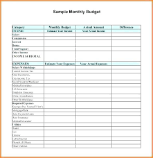 Monthly Home Budget Template Monthly Expense Budget Template Monthly Budget Worksheet