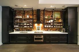 Perfect Industrial Open Shelving Delightful Kitchens Kitchen Industrial With Open  Shelving Pipe Shelves